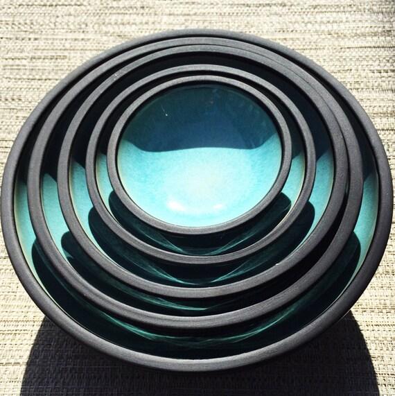 geschirr set oryoki set porzellan leicht blau matt etsy. Black Bedroom Furniture Sets. Home Design Ideas