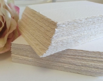 Deckle edge Place cards - wedding name cards - seating cards - escort cards - Bulk blank cards - (Made in Europe) Pure Invites - Rough edge