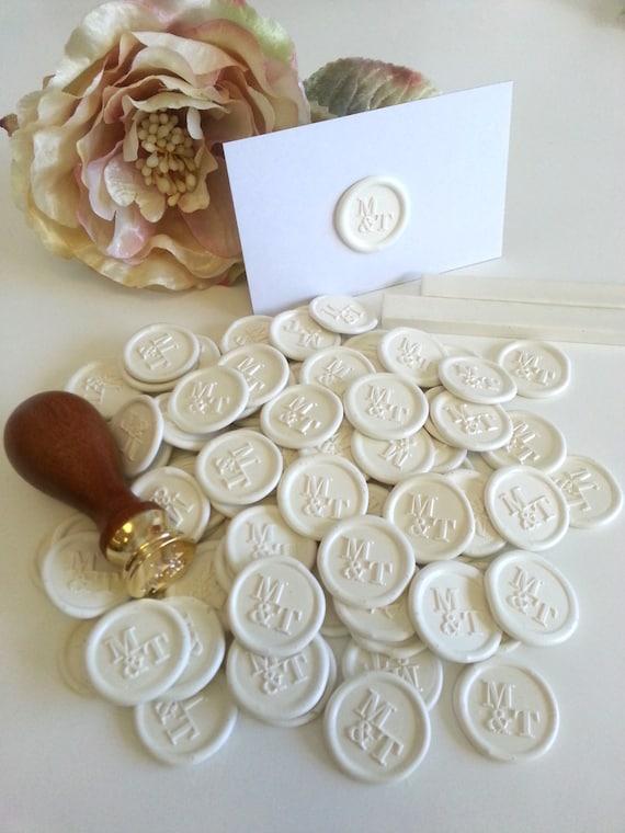 Benutzerdefinierte Wachs Siegel Aufkleber Hochzeit Corporate Logo Wachs Siegel Aufkleber Klebstoff Vorgefertigte Weiße Elfenbein Handmade In