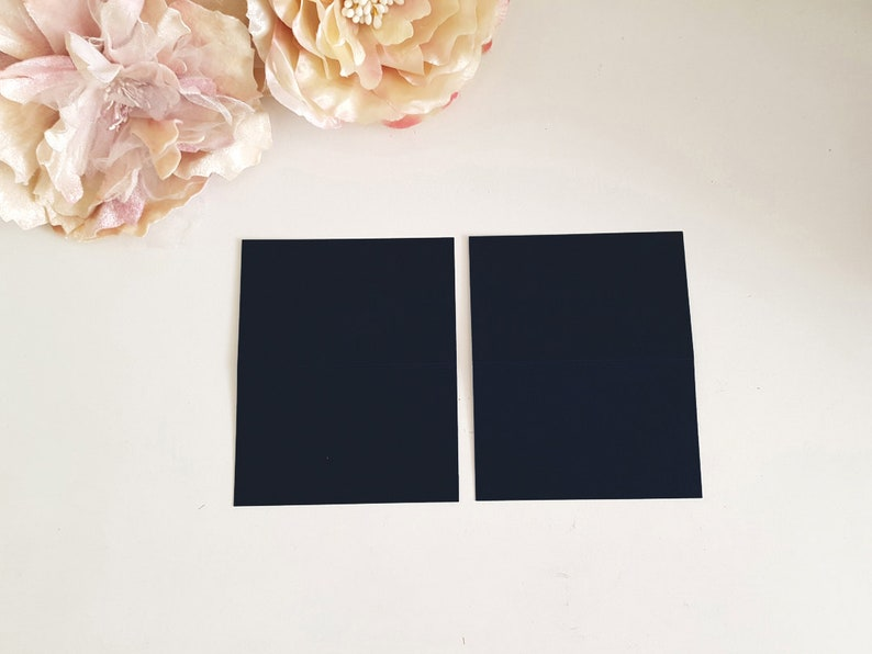 Freestanding place cards Sydney Black Place card Australia for hand calligraphy Blank Wedding Matte black Name card Escort Tent Fold