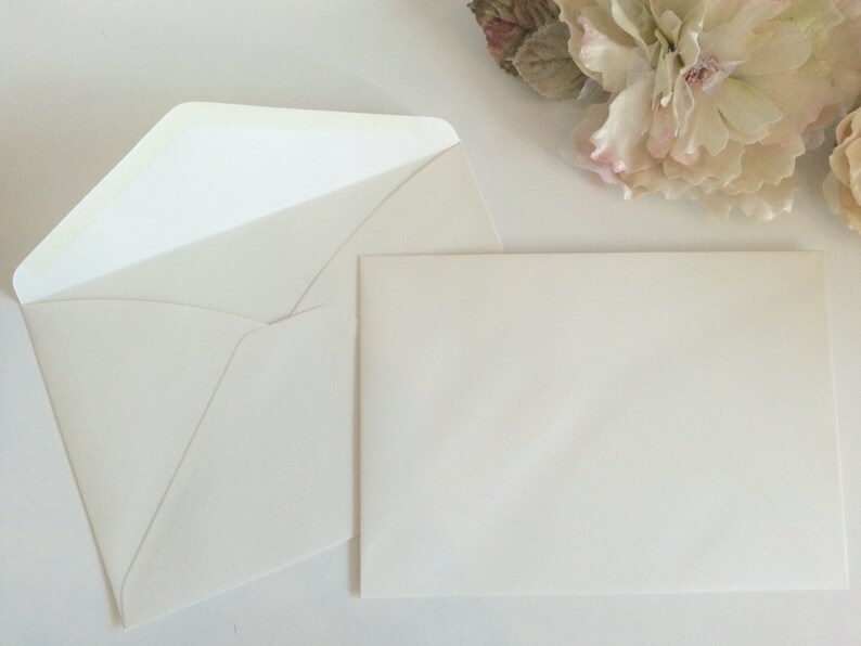 Ivory Craft UK W108 DL Linen Card and Envelope pack of 50