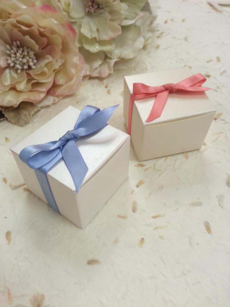 Bonbonniere Box Australia Sydney Small Wedding Favor Box White Cream Cute Pretty Chocolate Almond Box Baby Christening Pure Invites