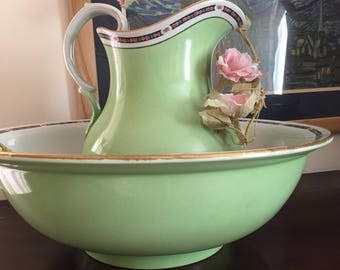 Vintage wash bowl and jug
