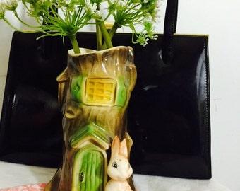 Hornsea vintage woodland vase.