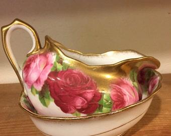 A darling china sugar bowl and jug