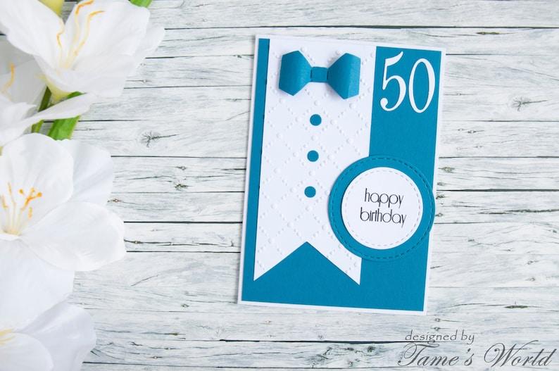 Happy Birthday Karte.Ready To Ship Happy Birthday Card Glückwünsch Karte Card For Him Best Wishes Happy 50th Birthday Card