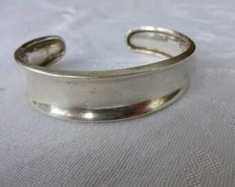 Sterling Silver open back bangle