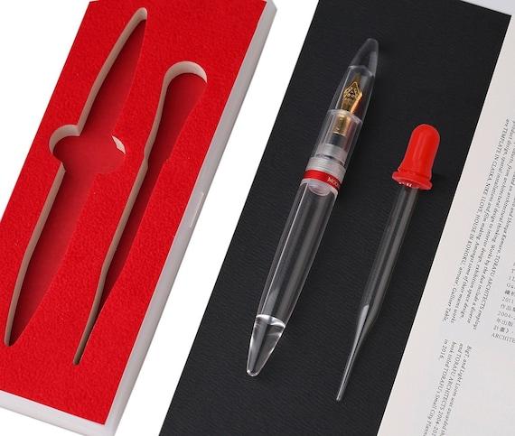 Transparent Fountain Pen Clear Dropper Filling Ink Eyedropper Fountain Pen Top