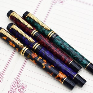 Christmas gift Collection Pen Calligraphy Pen EF Nib Case Set Vintage Pens KACO V/&A Museum Series Fountain Pen Dad/'s gift
