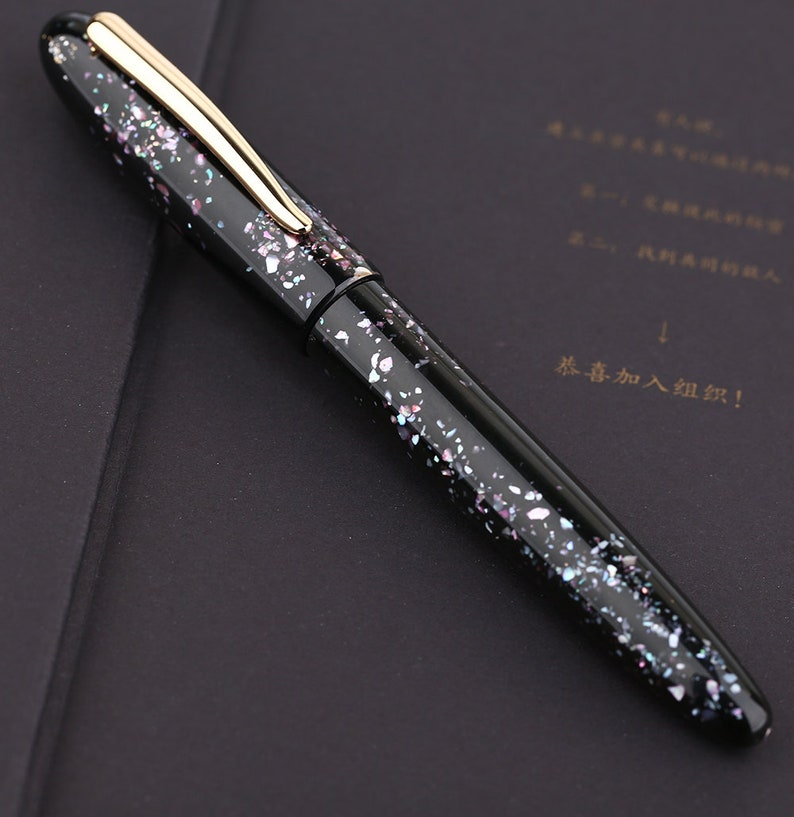 Fine Nib Converter Writing with Gift Box Moonman M8 Fountain Pen Colorful Acrylic Luxury Pen