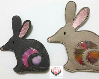 In the hoop Bilby treat holder (5x7 & 6x10) machine embroidery Instant digital download
