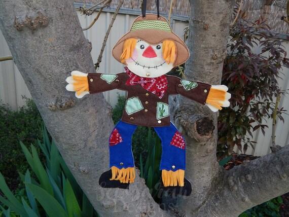 Machine Embroidery Design ITH Dingley Dangly Scarecrow Door Hanger 5x7 Instant Digital Download