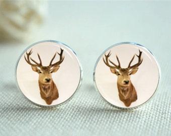 Majestic Bull Elk Cufflinks Groom Cufflinks Tie Clip Or Set Custom Wildlife Cufflinks Groomsmen Gifts Wedding Cufflinks Elk Cuff Links