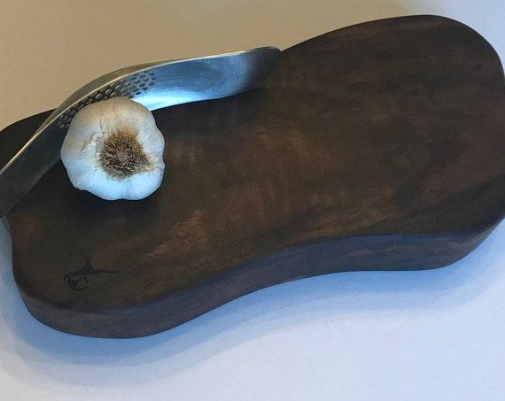 Serving Board Solid Burl Black Walnut