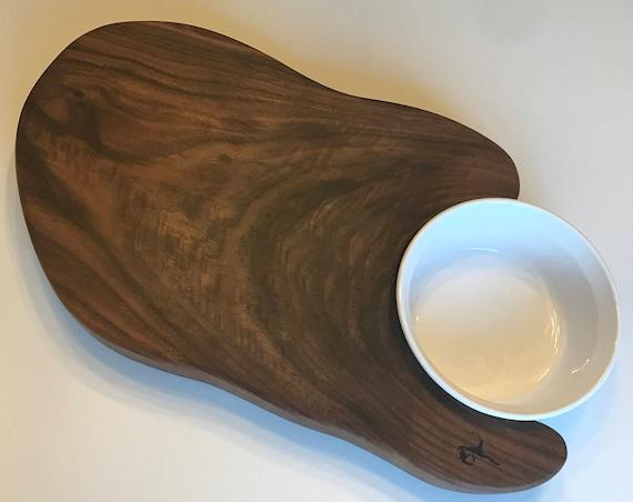 Cutting Board Solid Burl Black Walnut