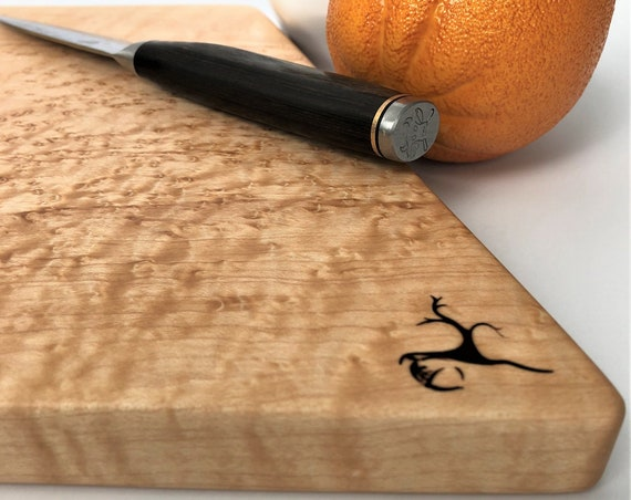 Cutting Board or Serving Platter made from Birds-Eye Maple