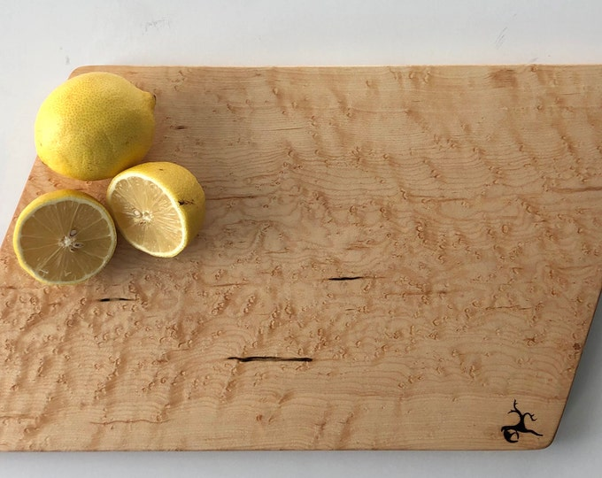 Featured listing image: Cutting Board or Serving Platter made from Birds-Eye Maple