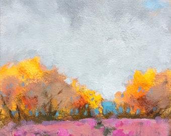 "Maine autumn landscape ""Sweet Honey"""