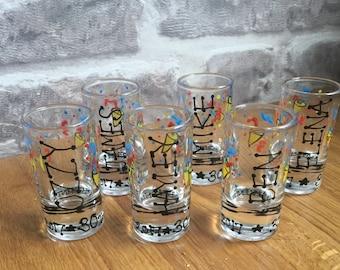 shot glasses custom request/personalised x14