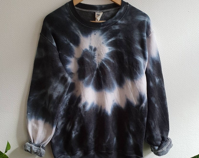 Featured listing image: The Black Snake Tie-Dye Sweatshirt, tumblr, grunge, hipster