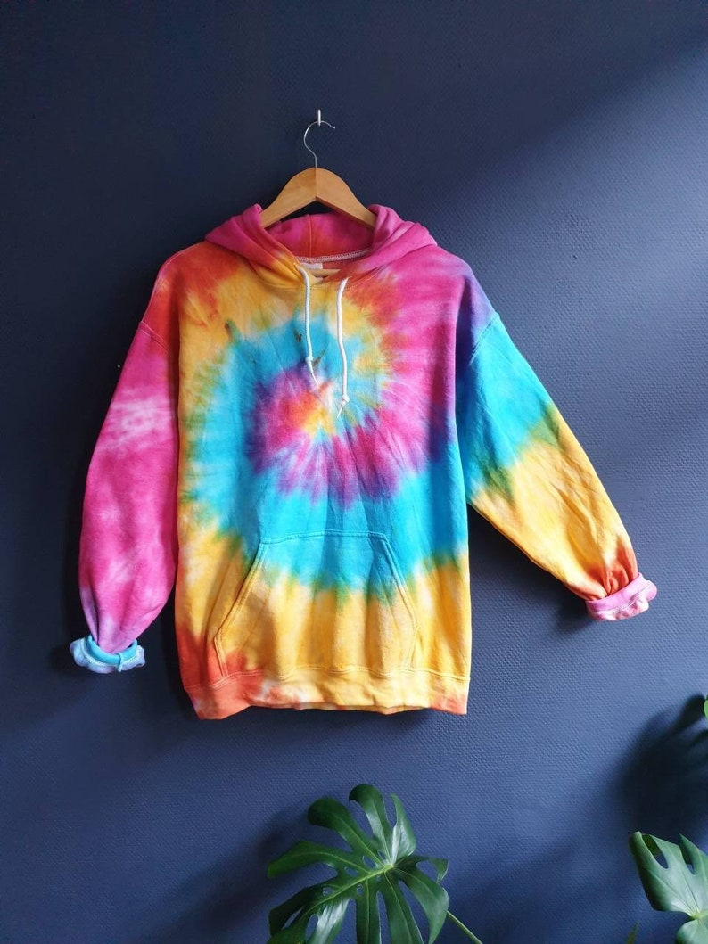 Bright Tie-Dye Hoodie colorful new hipster tumblr image 0