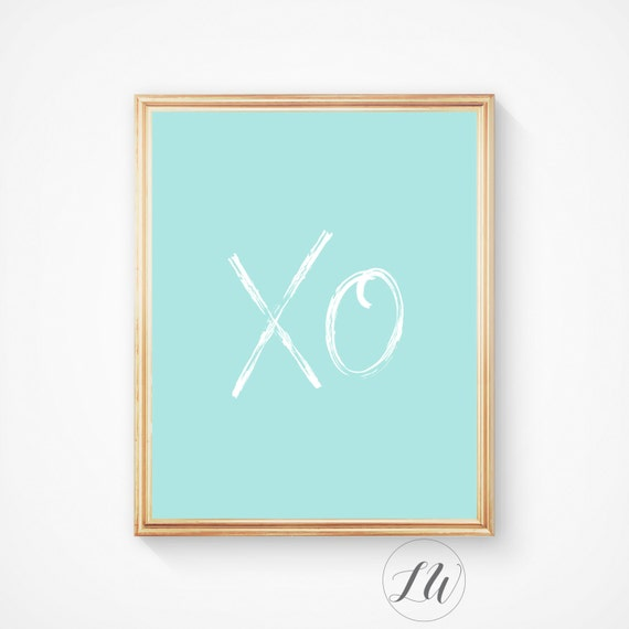 XO Palm Leaf Print Hugs and Kisses