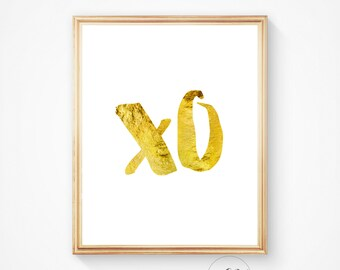 Hugs and Kisses, Xo wall print, Xo, Xo art, Xo printable, Xo wall decor, Typography, Downloadable art, Xo print, Xo wall decor
