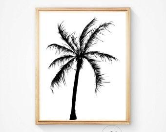 Beach art, Palm tree wall art, Palm print, Palm tree art, Summer decor, California prints, art print, Palm prints, Tropical art, Tree art
