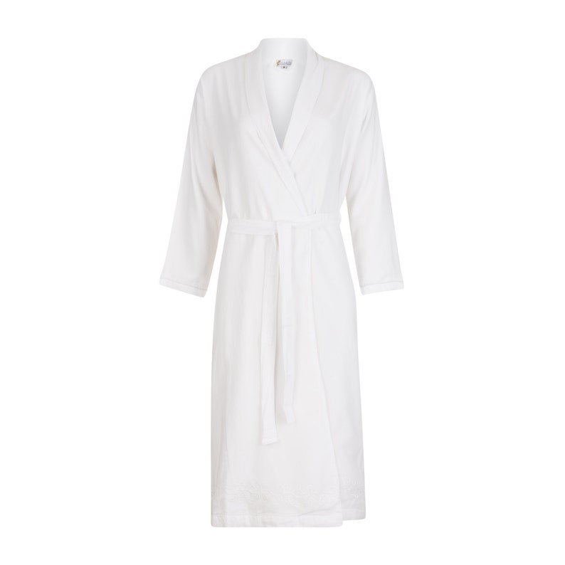 Robe for Women - White | 100% cotton, handmade, premium quality &  ultra-soft Dressing Gown | Khasto - the cotton cashmere