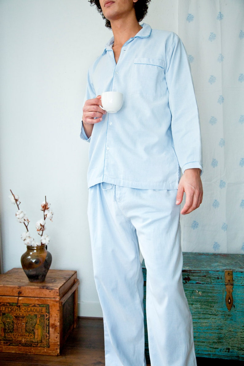 9b4146d2d820 Pajamas for Men Blue premium quality nightwear 100%