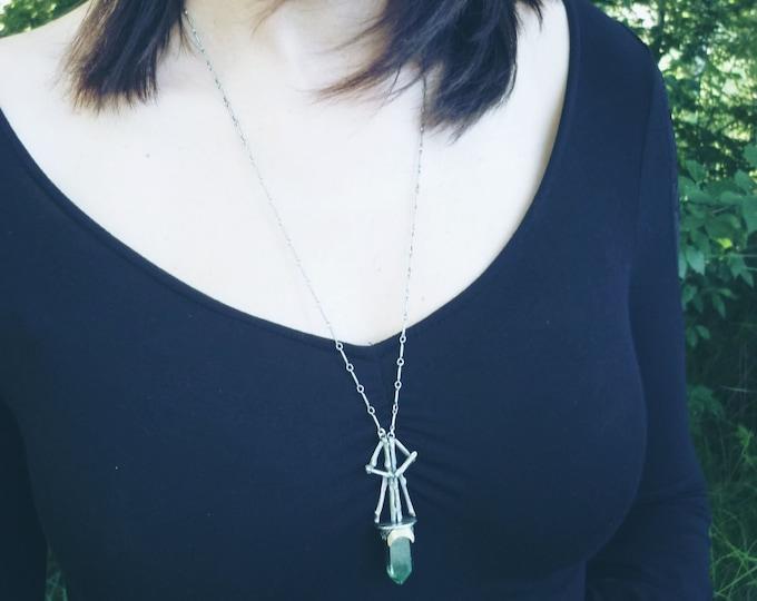 Featured listing image: Talisman Pendant Rune Raido . ancient pagan magic runa sterling silver. hybrid quartz