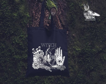 Witch cloth bag.or backpack  Old witch design by darklim
