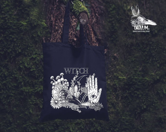 Featured listing image: Witch cloth bag.or backpack  Old witch design by darklim