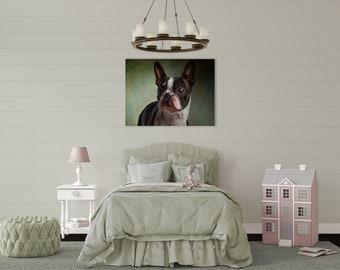 Pet Portrait Print, Printable Wall Art, Pet Illustration, Print Gift, Printable Dog Portrait, Gift For Animal Lovers