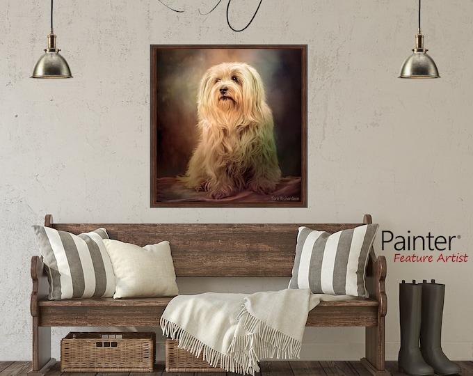 Featured listing image: CUSTOM DOG Pet Person Portrait from Photo, Personalized Customized Art, Cat, Animals,Oil Embellished canvas, mixed media