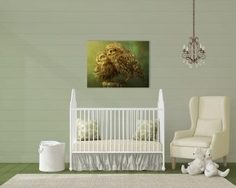 Pet Portrait Print, Printable Wall Art, Pet Illustration, Print Gift, Printable Owls Portrait, Gift For Animal Lovers