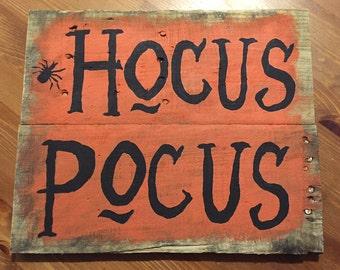 Hocus Pocus Pallet Sign