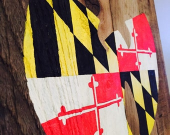 Maryland Flag Wu-Tang clan pallet art