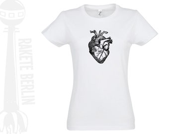 Woman T-Shirt  'anatomical heart'