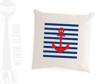 cushion cover 'anchor ans stripes'