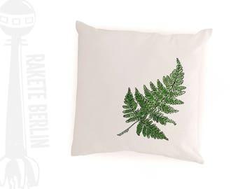 cushion cover cotton 'Fern leaf'