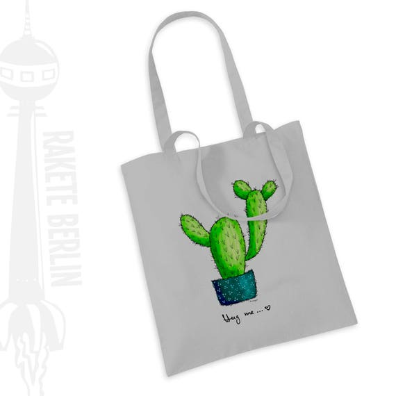 Jutetasche Jutebeutel Einkaufstasche Jute Kaktus Tragetasche Beuteltasche Mint