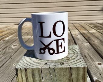 love coffee mug - hairstylist