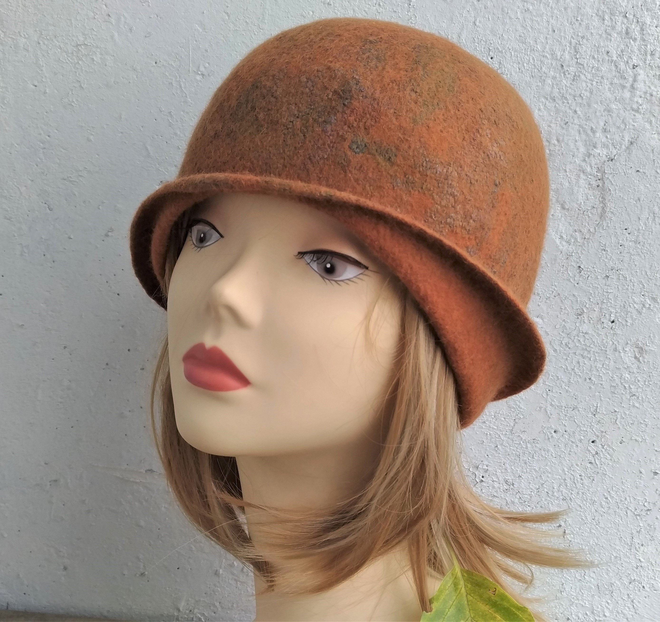 Felted cloche hat Women s fall hat Cloche hat Felted hat  96e4113bad2