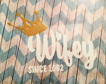 Wifey Iron On Decal / iron on decal / wifey  with a crown iron on / wifey iron on
