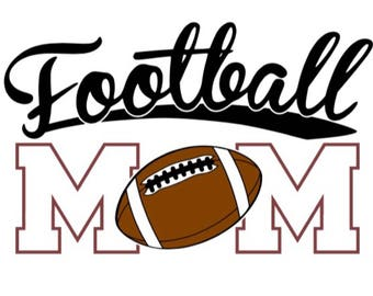 Football Mom iron on Decal / football mom iron on / glitter football / football mom decal