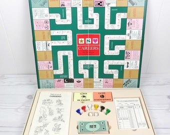 Vintage 1965 Careers Board Game French edition. Parker Brothers.