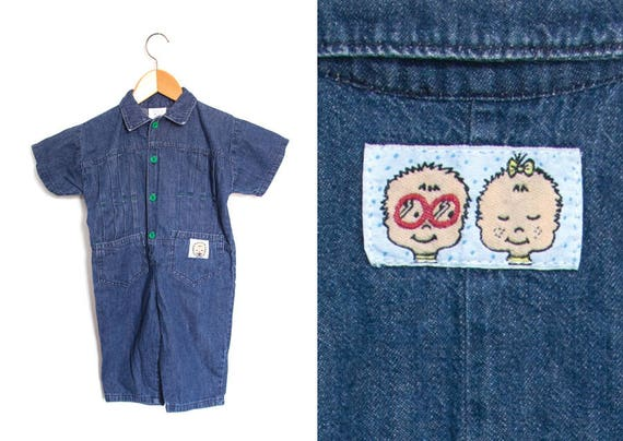 025ecb489cd1 Vintage children s denim jumpsuit suit pants. Jean romper