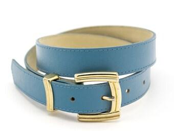 Vintage belt. Pale blue. Waist belt. Womens accessories. Minimalist. Minimal.