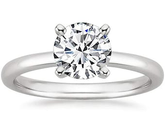 1/2 Carat Gia Certified Diamond Engagement Ring 0.44 Ct VS2 I 4 Prong 14K White Gold